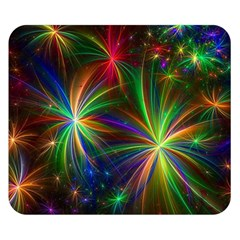 Colorful Firework Celebration Graphics Double Sided Flano Blanket (small)