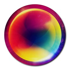 Colorful Glowing Round Mousepads