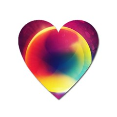 Colorful Glowing Heart Magnet