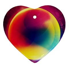 Colorful Glowing Heart Ornament (two Sides)