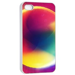 Colorful Glowing Apple Iphone 4/4s Seamless Case (white)