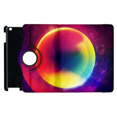Colorful Glowing Apple Ipad 2 Flip 360 Case