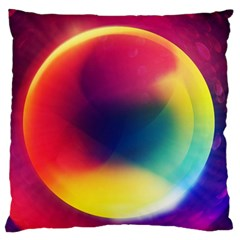 Colorful Glowing Large Flano Cushion Case (one Side)