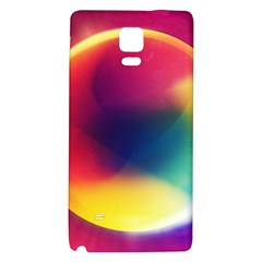 Colorful Glowing Galaxy Note 4 Back Case