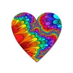 Colorful Trippy Heart Magnet