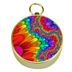 Colorful Trippy Gold Compasses