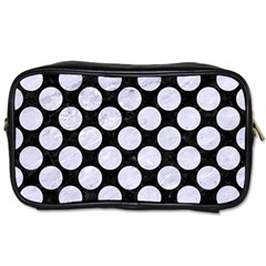 Circles2 Black Marble & White Marble Toiletries Bag (one Side)