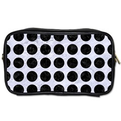 Circles1 Black Marble & White Marble (r) Toiletries Bag (one Side)