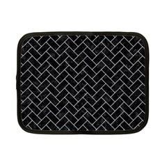 Brick2 Black Marble & White Marble Netbook Case (small)