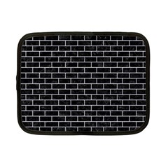Brick1 Black Marble & White Marble Netbook Case (small)