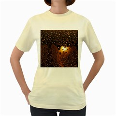 Condensation Abstract Women s Yellow T Shirt