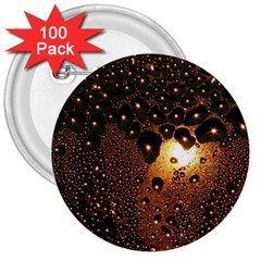 Condensation Abstract 3  Buttons (100 Pack)