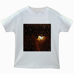Condensation Abstract Kids White T Shirts