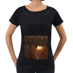 Condensation Abstract Women s Loose Fit T Shirt (black)