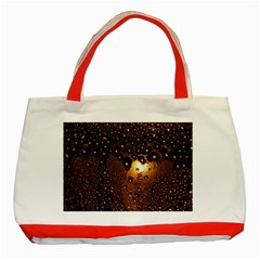 Condensation Abstract Classic Tote Bag (red)