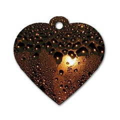 Condensation Abstract Dog Tag Heart (two Sides)