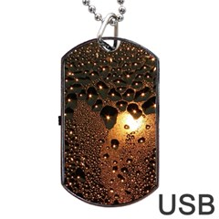 Condensation Abstract Dog Tag Usb Flash (two Sides)
