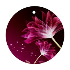 Drawing Flowers Lotus Ornament (round)