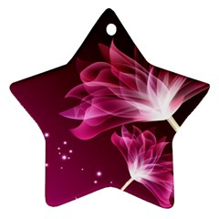 Drawing Flowers Lotus Star Ornament (two Sides)