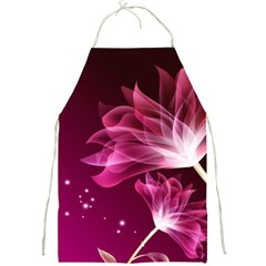 Drawing Flowers Lotus Full Print Aprons