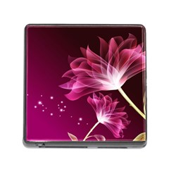 Drawing Flowers Lotus Memory Card Reader (square)