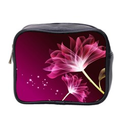 Drawing Flowers Lotus Mini Toiletries Bag 2 Side