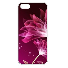 Drawing Flowers Lotus Apple Iphone 5 Seamless Case (white)