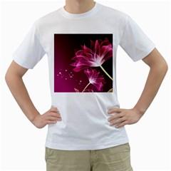 Drawing Flowers Lotus Men s T Shirt (white)