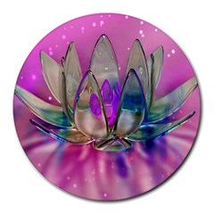 Crystal Flower Round Mousepads
