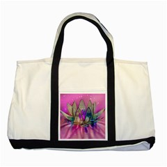 Crystal Flower Two Tone Tote Bag