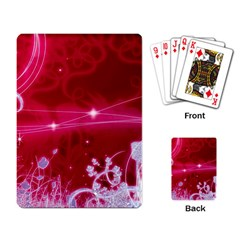 Crystal Flowers Playing Card