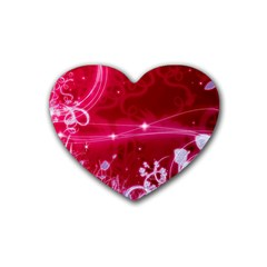 Crystal Flowers Rubber Coaster (heart)