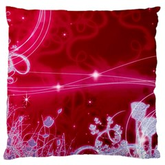 Crystal Flowers Large Cushion Case (two Sides)