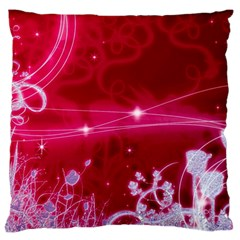 Crystal Flowers Large Flano Cushion Case (one Side)