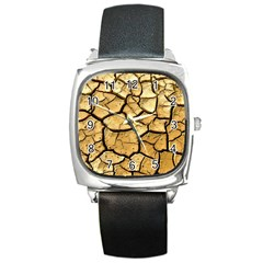 Dry Ground Square Metal Watch