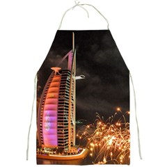 Dubai Burj Al Arab Hotels New Years Eve Celebration Fireworks Full Print Aprons