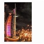Dubai Burj Al Arab Hotels New Years Eve Celebration Fireworks Small Garden Flag (Two Sides) Back