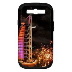 Dubai Burj Al Arab Hotels New Years Eve Celebration Fireworks Samsung Galaxy S Iii Hardshell Case (pc+silicone)