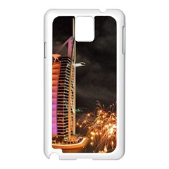 Dubai Burj Al Arab Hotels New Years Eve Celebration Fireworks Samsung Galaxy Note 3 N9005 Case (white)