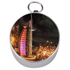 Dubai Burj Al Arab Hotels New Years Eve Celebration Fireworks Silver Compasses