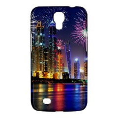 Dubai City At Night Christmas Holidays Fireworks In The Sky Skyscrapers United Arab Emirates Samsung Galaxy Mega 6 3  I9200 Hardshell Case