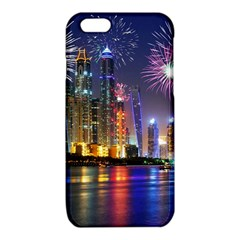 Dubai City At Night Christmas Holidays Fireworks In The Sky Skyscrapers United Arab Emirates iPhone 6/6S TPU Case