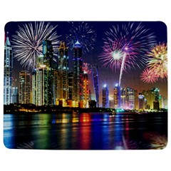 Dubai City At Night Christmas Holidays Fireworks In The Sky Skyscrapers United Arab Emirates Jigsaw Puzzle Photo Stand (Rectangular)