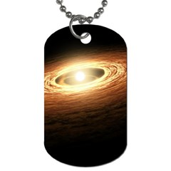 Erupting Star Dog Tag (two Sides)