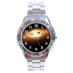 Erupting Star Stainless Steel Analogue Watch