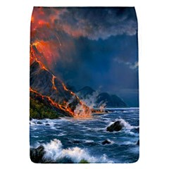 Eruption Of Volcano Sea Full Moon Fantasy Art Flap Covers (s)