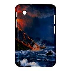 Eruption Of Volcano Sea Full Moon Fantasy Art Samsung Galaxy Tab 2 (7 ) P3100 Hardshell Case