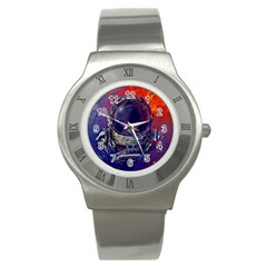 Eve Of Destruction Cgi 3d Sci Fi Space Stainless Steel Watch