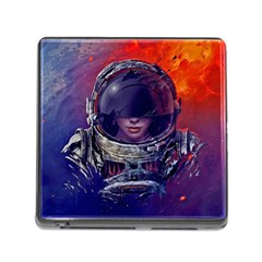 Eve Of Destruction Cgi 3d Sci Fi Space Memory Card Reader (square)