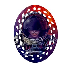 Eve Of Destruction Cgi 3d Sci Fi Space Oval Filigree Ornament (two Sides)